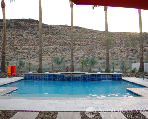 Sonoran Waters - Custom Geometric Pool & Spa in Scottsdale, AZ
