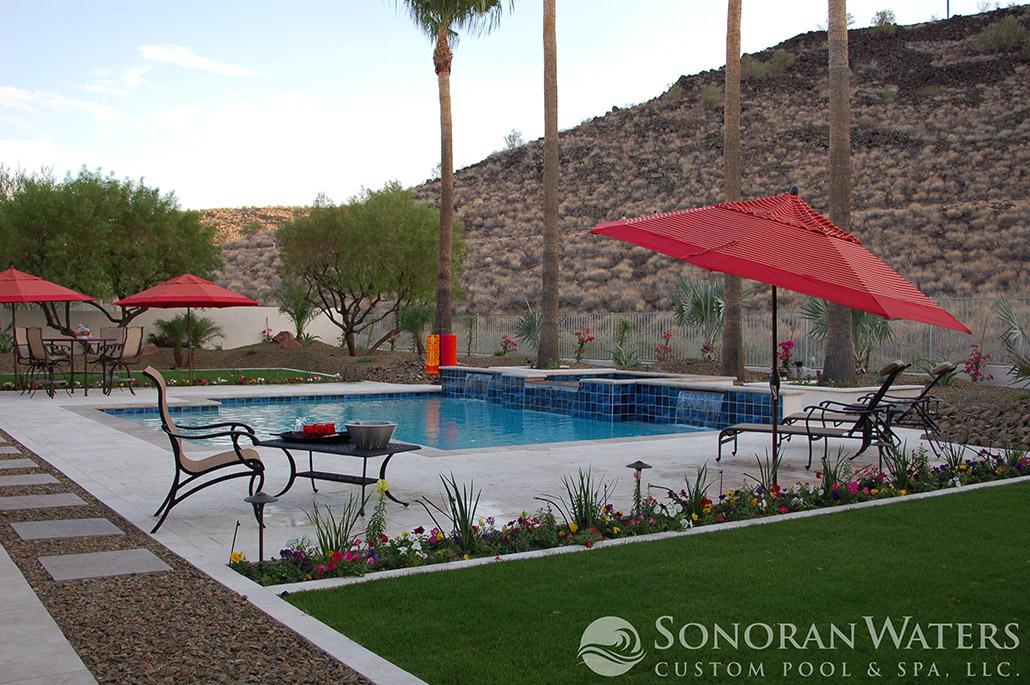 Custom Geometric Pool & Spa in Scottsdale, AZ