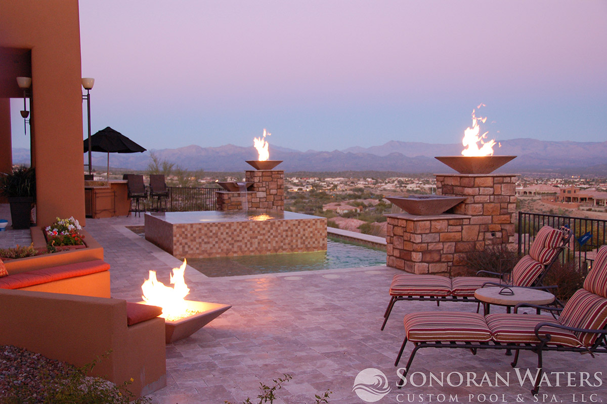 Mountainside Spa With A View in Scottsdale AZ